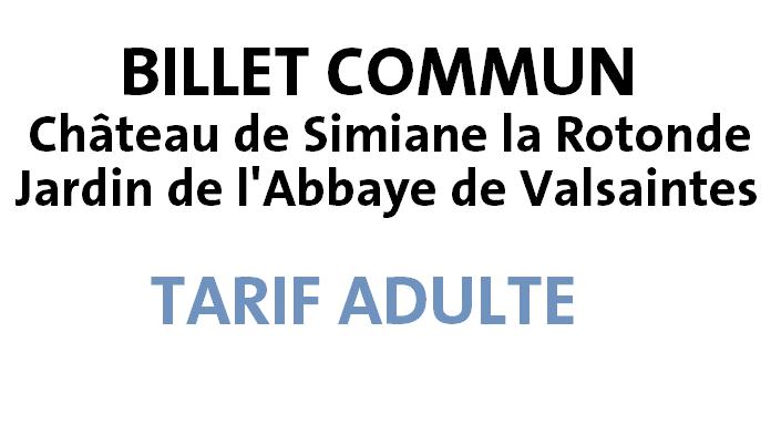 ADULTE : CHÂTEAU SIMIANE + JARDIN VALSAINTES