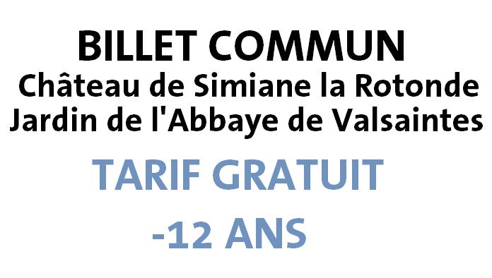 GRATUIT : CHÂTEAU SIMIANE + JARDIN VALSAINTES