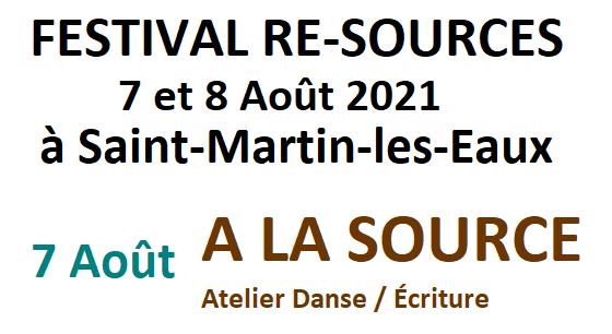 A la source - Atelier Danse/Ecriture